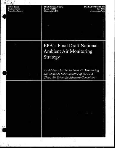 EPA's Final Draft National Ambient Air Monitoring Strategy (English Edition) -