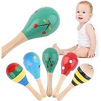 Jasnyfall5pcs Baby Kinder Sound Musik Geschenk Kleinkind Rassel Musical Holz Bunte Spielzeug preisvergleich bei kinderzimmerdekopreise.eu