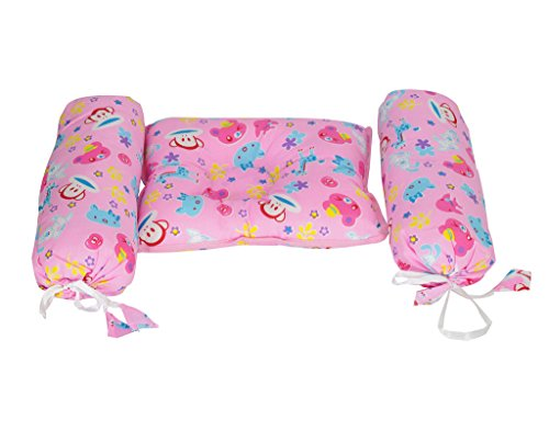 Aarushi BABY BOLSTER AND PILLOW SET Pink