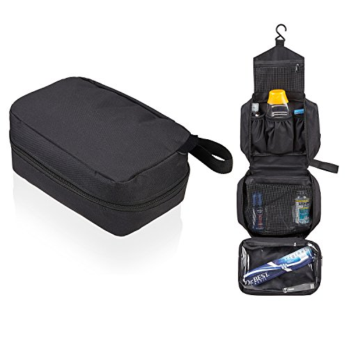 SWISSONA Neceser Premium, Impermeable y Colgante, Ideal para Viajar, Malla y Cierre de Cremallera | con 2 años de garantía de satisfacción | Bolsa de Aseo, Bolsa de Viaje, Estuche, Toiletry Bag