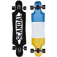 Scandal Longboard Cruiser Skateboard Abec 11 - Cubierta de alta velocidad 104 cm Canadian Maple Layers Board para Niños y niñas