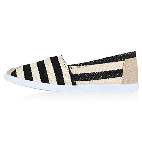 Damen Espadrilles Bast Slipper Glitzer Streifen Sommer Schuhe Schwarz Streifen