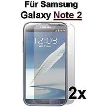 2x Samsung Galaxy Note 2protector de pantalla Protector de pantalla Protector de pantalla Ultraclear @ Energmix®