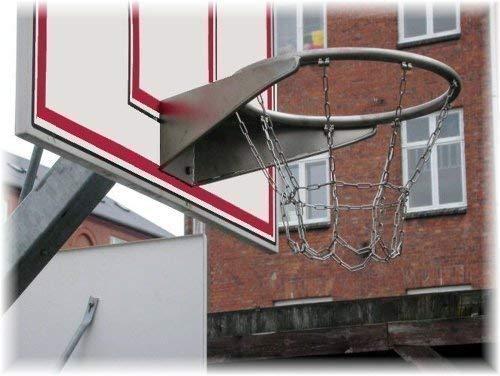 Loggyland Profi Basketballkorb aus Edelstahl mit Kettennetz TÜV/GS