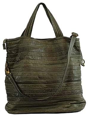 BZNA Bag Stefania Verde Grün Italy Designer Damen Handtasche Ledertasche Schultertasche Tasche Leder Shopper Neu