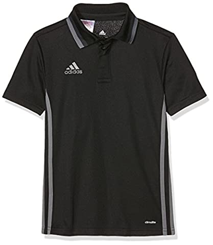 Adidas Enfants Loisirs Habillement CL Polo 152 cm Noir - black/dark grey/Vista grey