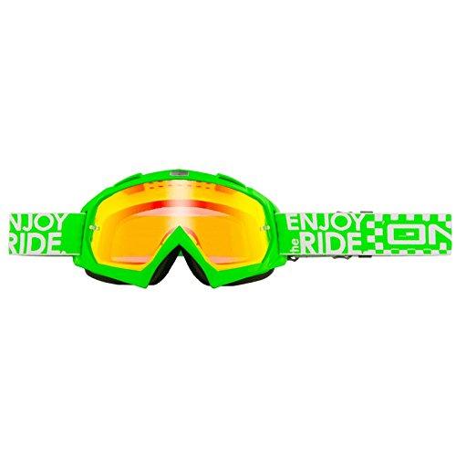 O'Neal B-Flex MX Goggle Launch Grün Radium DH Brille verspiegelt Moto Cross Enduro Downhill, 6024BL-203
