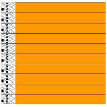 Tyvek Wristbands, Neon, Orange, 100 Pack