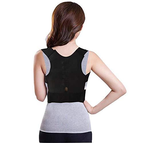 YOUTHLIKEWATER Magnetische Haltungskorrektur Gürtel Schultern Unterstützung der Rückenhaltung Richtige Haltung Rückenstütze BH-Haltung Lendengurt S M L XXL (Color : Black, Size : XL) -