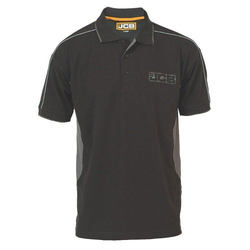 JCB Fenton polo shirt - Black, Large schwarz - schwarz