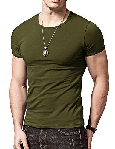 XDIAN Hommes Manche courte T-shirt Coupe Slim Coton...