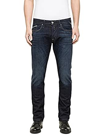 Replay Herren Jeans Waitom M983-606-602 Regular Fit Slim Leg deep blue, Größe:W 28 L 30;Farbe:deep blue (602)