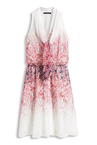 Esprit 066eo1e016-Floral Application, Robe Femme Rouge - Rot (RED 2 631)