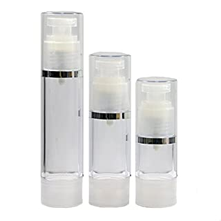 5pcs x Mini Portable Airless Bottle Cosmetic Treatment Pump Cover Travel Skincare Empty (30ml)
