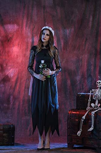 Ruanyi Spitze Seite Gaze Geist Brautkleid weibliche Halloween Cosplay Kostüm Spiel Uniform für Frauen (Size : L)