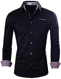 Tom's Ware Chemises-Contraste Slim Fit manches longues-Hommes