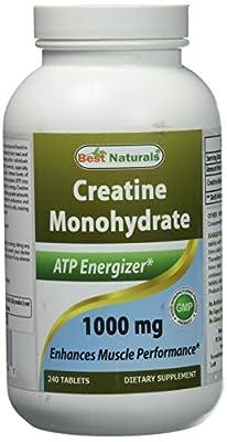 Best Naturals Creatine 1000 mg 240 Tablets by Best Naturals