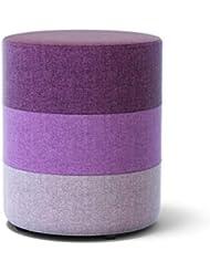 FGN Quadratischer Gepolsterter Fußschemel aus Holz Osman Schuhbank Abnehmbarer Leinenüberzug eine Vielzahl von Farben für Wohnzimmer, Schlafzimmer (Farbe : Purple, größe : Runden)