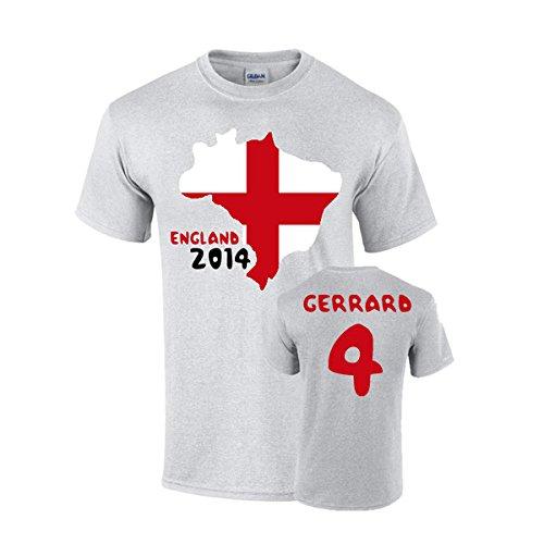 UKSoccershop England 2014 Country Flag T-Shirt (Gerrard 4) UKSoccershop