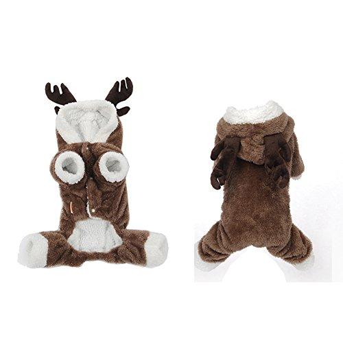 GossipBoy Cute Reindeer Deer Elk Design Dog Christmas Clothes Jerseys Pet  Costume Puppy Jumpsuit Outwear Coat Apparel Hoodie ... 0651bb640