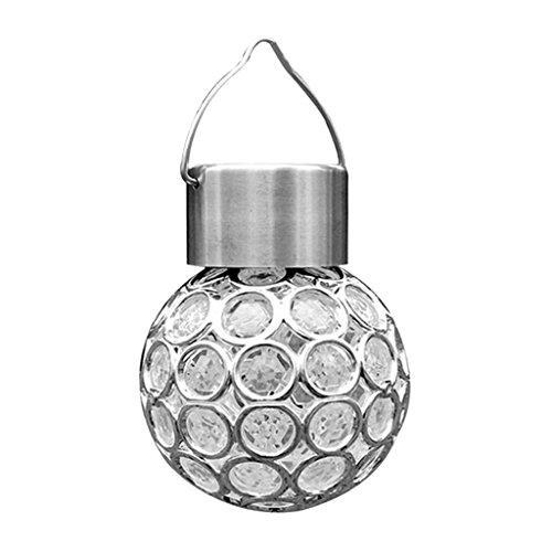 MagiDeal Lustre en Acier Forme en Ballon Lampe Solaire Exterieur Décoration pour Couloir Balcon Jardin - Coloré