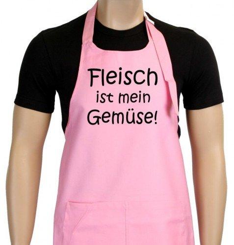 Grillschürze rosa Fleisch ist mein Gemüse - grillen - BBQ GRILL SCHÜRZE GRILLSPORT - Meine Rosa Schürze