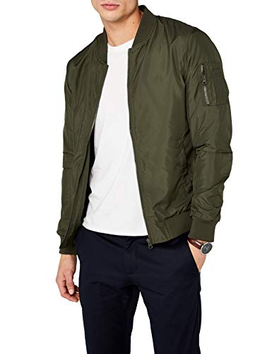 Urban Classics TB1258  Light Bomber Bomberjacke, Grün (darkolive 551), Gr. Medium