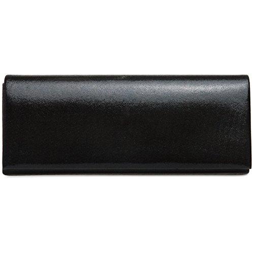 CASPAR TA278 Damen Satin Clutch , Farbe:schwarz (glanz)