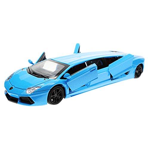 Kids Best Gift Simulation Modèle Acousto-Optic Alloy Modèle de voiture 1/36 ( Bleu )
