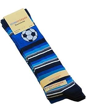 Cotton Prime 3 oder 6 Paar Kinder Kniestrümpfe mit Fußball Motiven, Baumwolle (ÖKO-Tex Standard 100 zertifiziert)