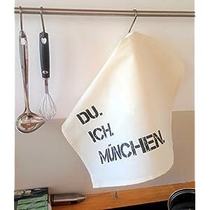 DU. ICH. MÜNCHEN. Geschirrtücher Set 2 Stück Handtuch Küche Geschenkidee Einzug Geburtstag