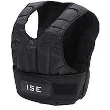 ISE Chalecos de entrenamiento Peso - Chaqueta ejercicio boxeo Workout Fitness Training Chaleco con Pesas Ajustable