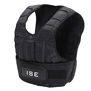 ISE Gewichtsweste Verstellbar von 5 kg 10 kg 15 kg 20 kg 25 kg 30 kg Gewicht Warnwesten für Gewicht Training Krafttraining Übung sy3002