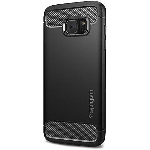 Funda Galaxy S7 Edge Case, Spigen [La ultima protección] Carcasa para Samsung Galaxy S7 Edge Cover Rugged Armor - Black