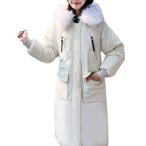 Toasye Frauen Winter Langarm Reißverschluss Warme Jacke, Damen Einfarbig Fell Hoodie Langen Mantel Oberbekleidung