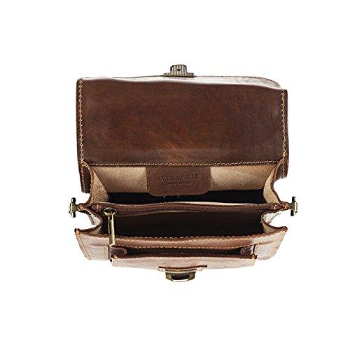 #MYITALIANBAG, Pochette pour Homme, noir (noir) - 83016BLACK marron clair