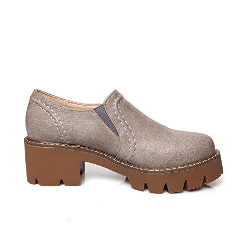 Balamasa Anti-dérapant, Pour Femme Avec Talon Kitten-pumps-chaussures, Microfibre Gris