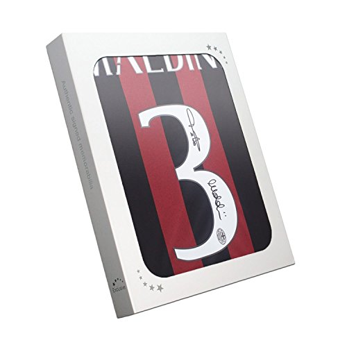 Exclusive Memorabilia AC Milan Fußball Trikot 2015-16 von Paolo Maldini unterzeichnet. In Geschenkbox
