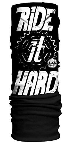 HAD® Original Fleece Écharpe Mixte, Ride It Hard/Black, Taille Unique