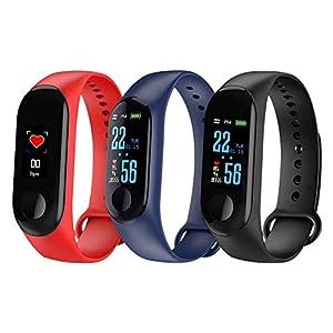 Fitness Trackers, Relojes Bluetooth, Reloj Inteligente, Activity Trackers Health Exercise Watch con frecuencia cardíaca y Monitor de sueño, Banda Inteligente, Contador de Pasos,podómetro para Caminar 4