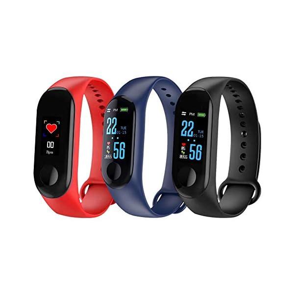 Fitness Trackers, Relojes Bluetooth, Reloj Inteligente, Activity Trackers Health Exercise Watch con frecuencia cardíaca y Monitor de sueño, Banda Inteligente, Contador de Pasos,podómetro para Caminar 1