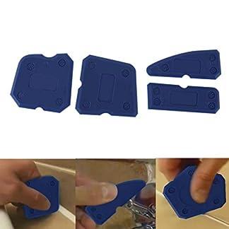 4 Unids Kit de Herramientas de Calafateo Sellador de juntas Borde de silicona Eliminador de lechada Raspador Azul Herramientas de mano Ventilador de azulejos Rascador limpiador para la casa