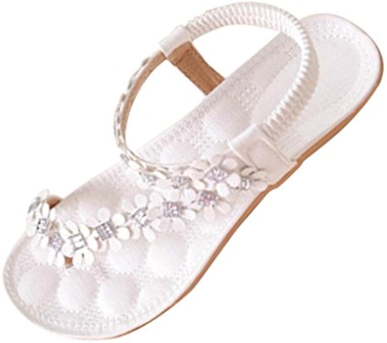 9f8dc36b678a47 LuckyBB Women Summer Bohemia Flower Beads Flip-flop Shoes Bohemia Flat Flip-flop  Shoes Sandals B0746G229C Parent b0def6c - www.maggiesable.com