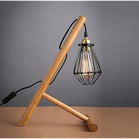 Inicio Monopoly Titular moderna lámpara de escritorio minimalista de madera de sombra Registros Pequeño Citroen lámpara de