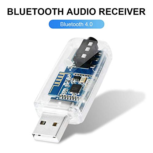 haodene 3.5 Mm USB Bluetooth Empfänger Adapter Kabelloser Audio-Adapter Car Kit Musikempfänger Bluetooth-Auto-Adapter Für Zu Hause, Autoradio-Soundsystem