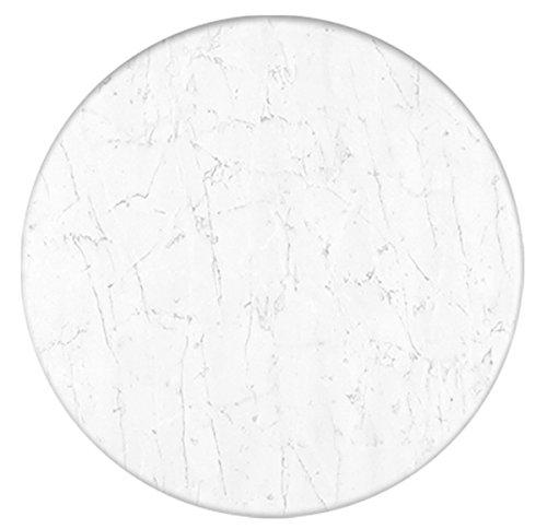 Werzalit Tischplatte, Dekor marmor bianco, rund 80 cm - Marmor Tischplatte
