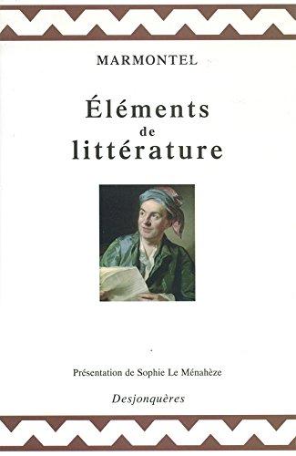 Eléments de littérature