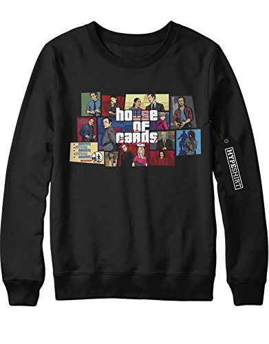 Sweatshirt House Of Cards Mash Up GTA H549342 Schwarz M