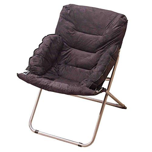 Accueil/Tabouret pour meubles de loisirs intérie Noir Chaise à grande taille Chaise à dîner Fold Fauteuil inclinable Nap Sofa durable par BZEI-Chair