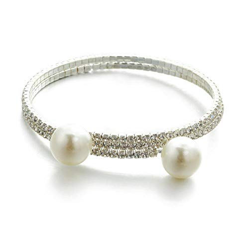 YSHOUTAD Lady Pearl mit Strass Voller Diamanten Multilayer/Armreif Armband
